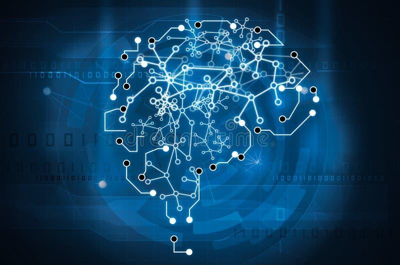 机器学习脑子 向量例证