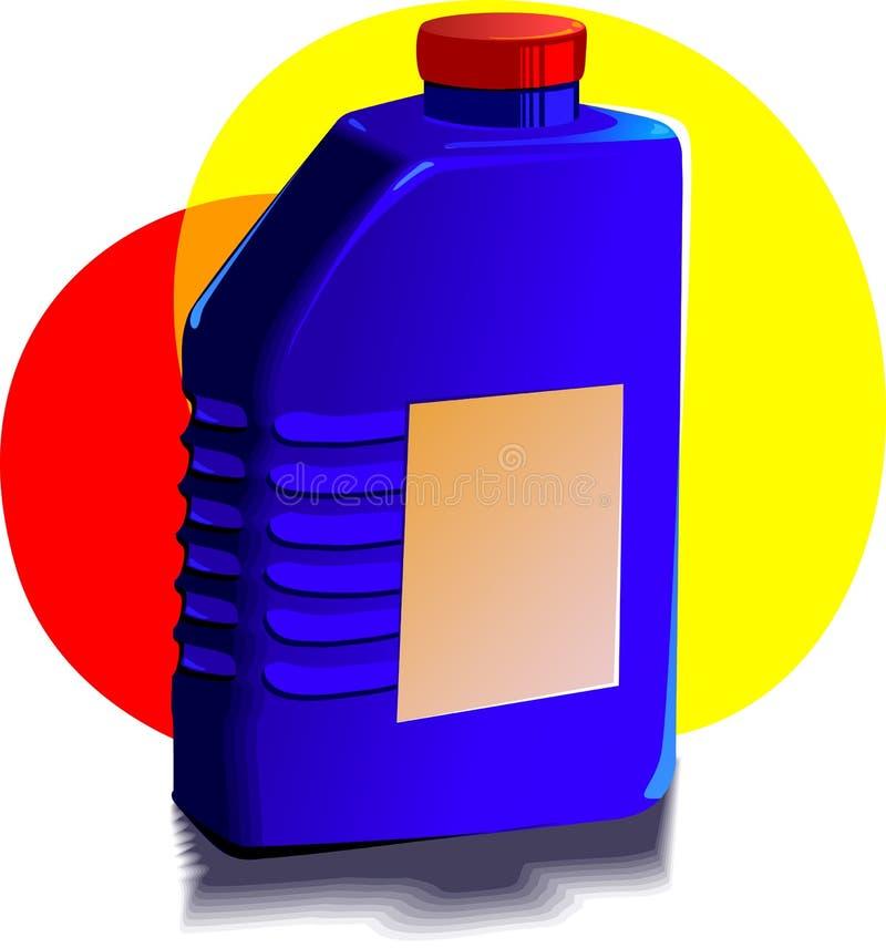 机器润滑油瓶 皇族释放例证