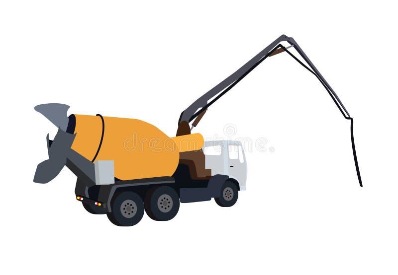 机器混凝土泵 也corel凹道例证向量 向量例证