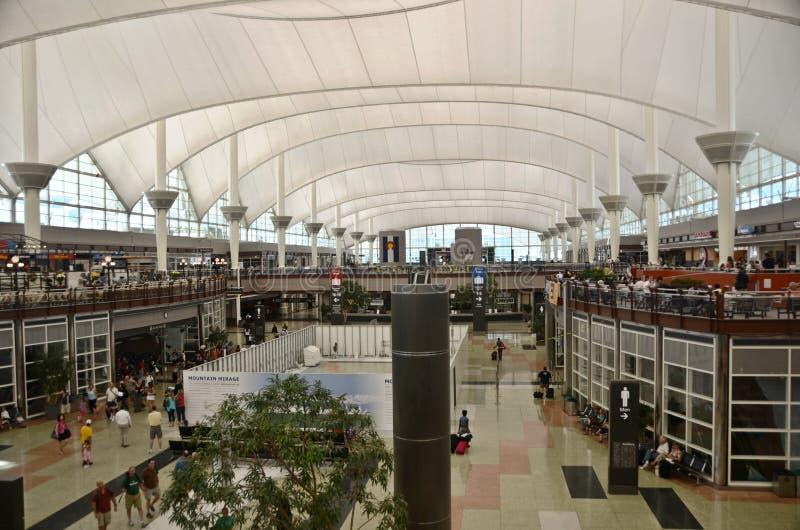 机场丹佛内部 免版税库存图片