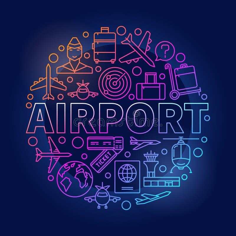 机场五颜六色的圆的例证 皇族释放例证