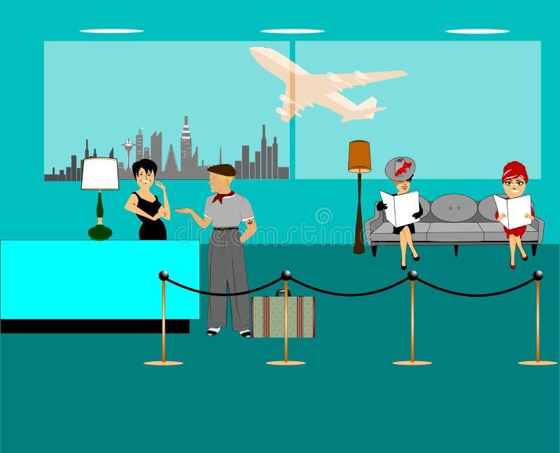 机场休息室背景 图库摄影
