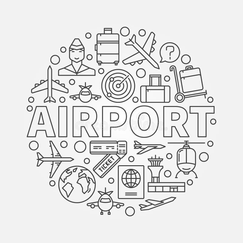 机场传染媒介圆的例证 皇族释放例证