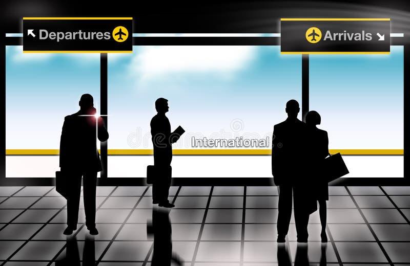 机场到达启运休息室 向量例证