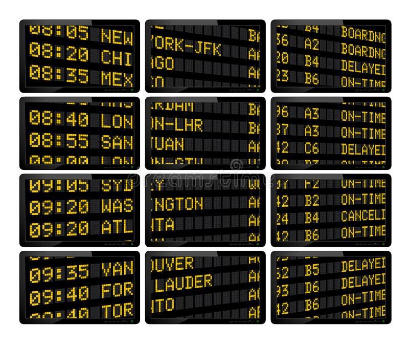 机场到达启运 向量例证