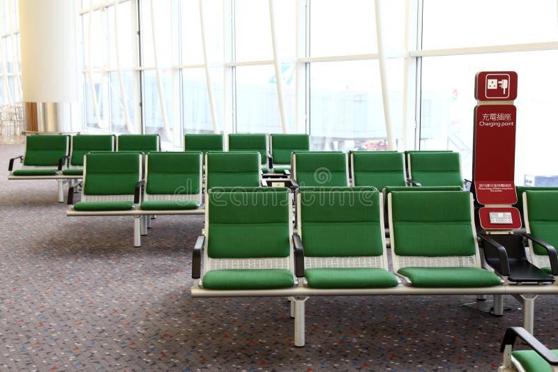 机场区洪国际kong等待 免版税图库摄影