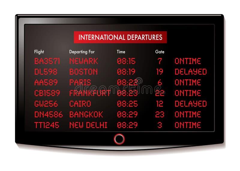 机场启运lcd 向量例证