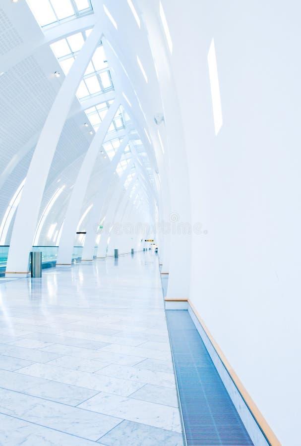 机场哥本哈根走道 免版税图库摄影