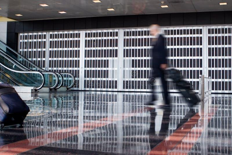机场商人 免版税库存照片