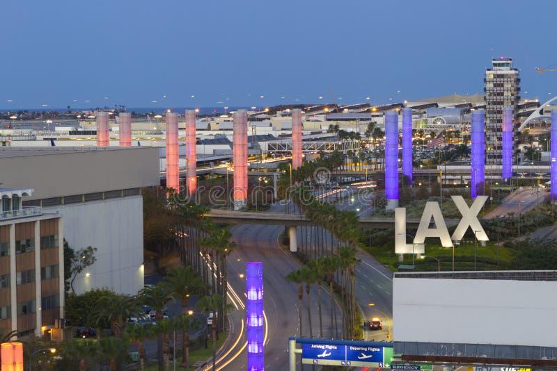 机场国际la 免版税库存照片