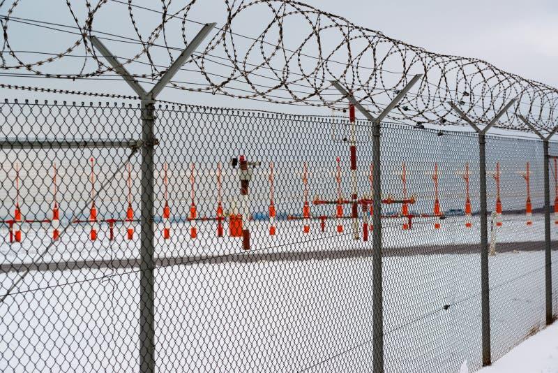机场在冬天 免版税库存照片