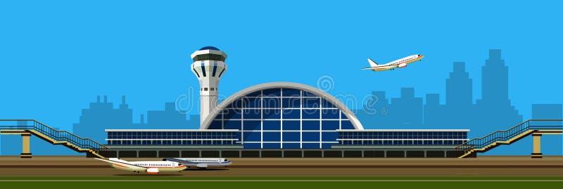 机场大厦传染媒介例证 库存例证