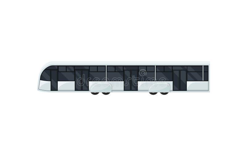 机场大巴,侧视图 客运 现代公车 运输题材 平的传染媒介设计 向量例证