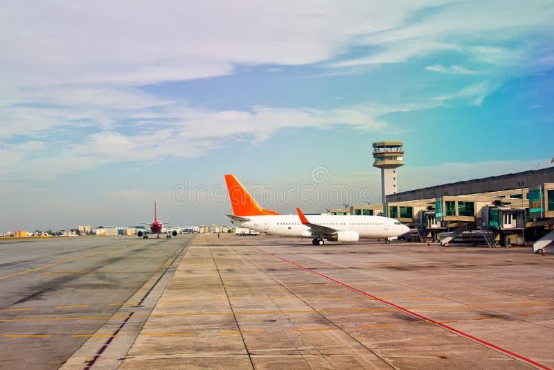 机场天 免版税库存照片