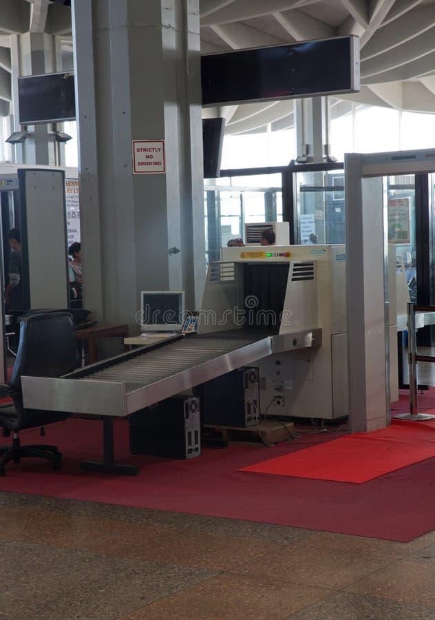 机场安全机器 库存照片
