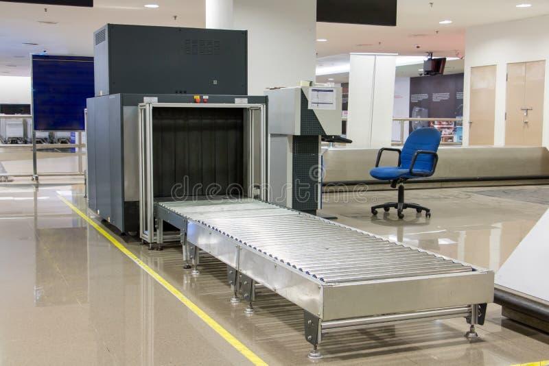 机场安全金属探测器扫描 免版税图库摄影