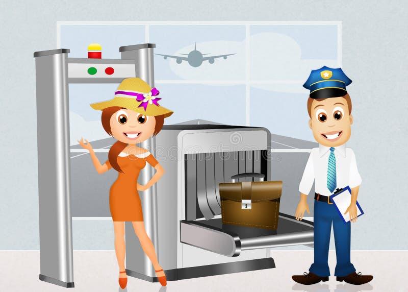机场安全 库存例证