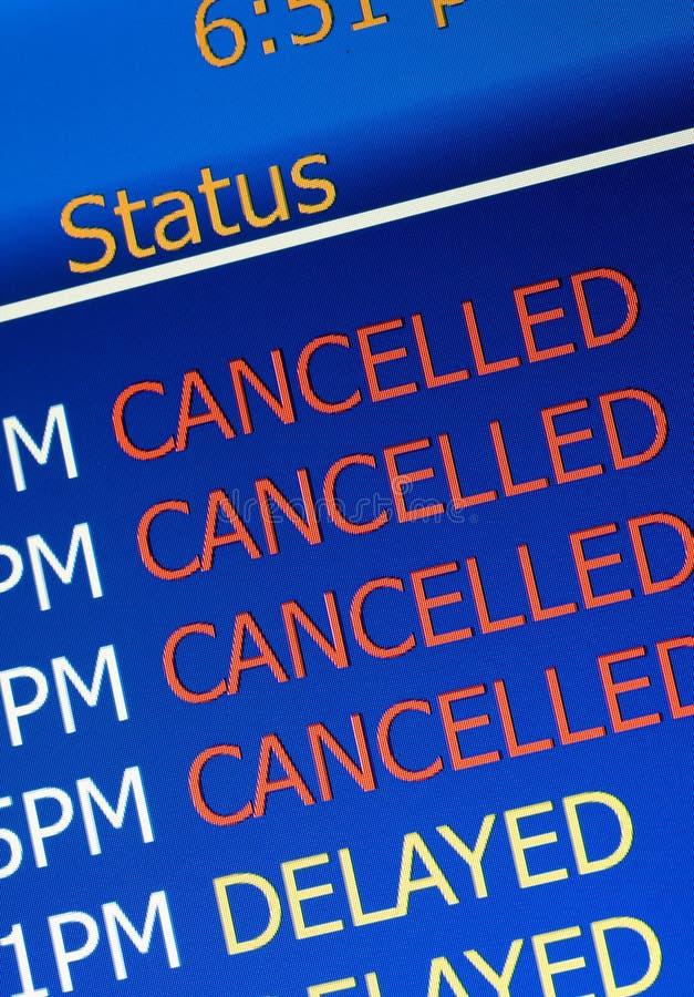 机场延迟 免版税库存图片