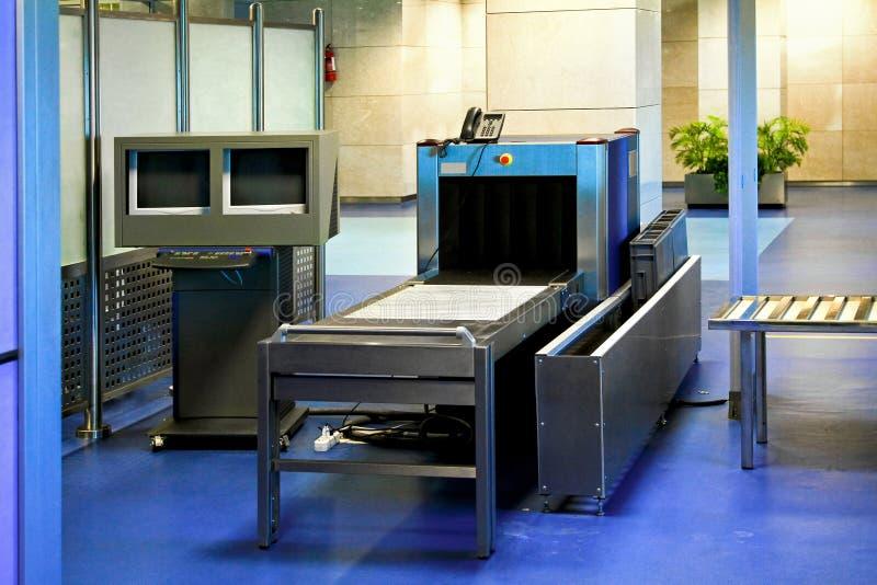 机场扫描程序 库存图片