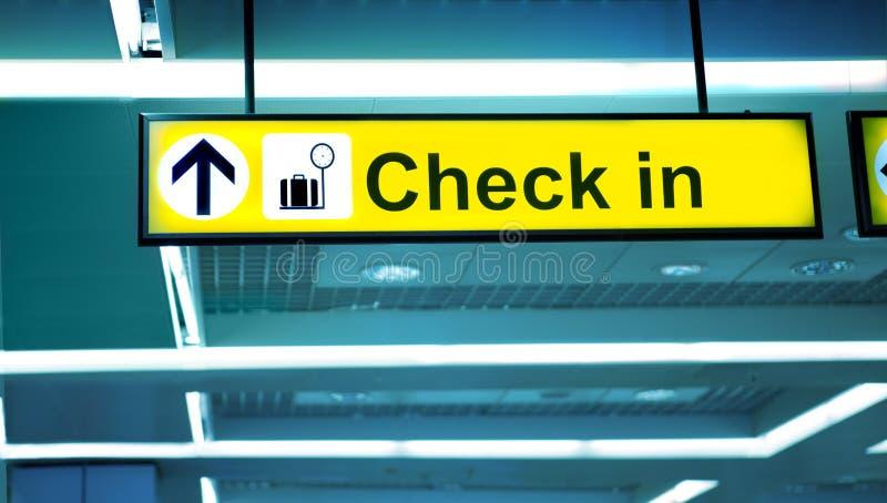 机场报到地区, 免版税库存照片