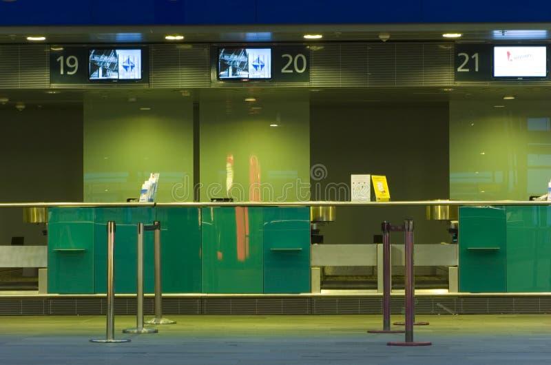 机场报到 免版税库存照片