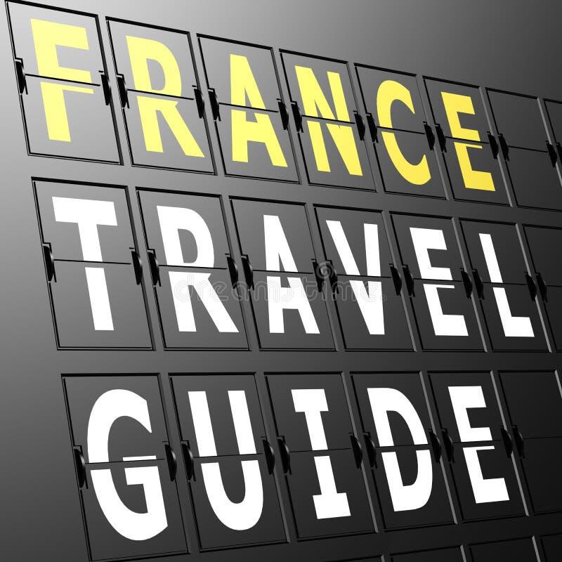 机场显示法国旅行指南 库存例证