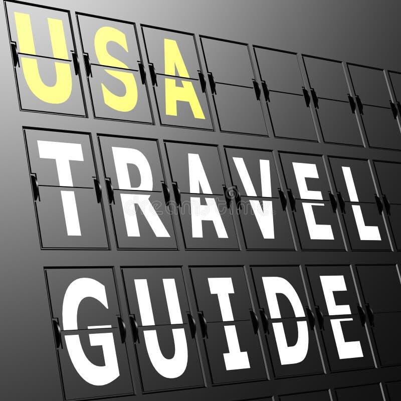 机场显示美国旅行指南 库存例证