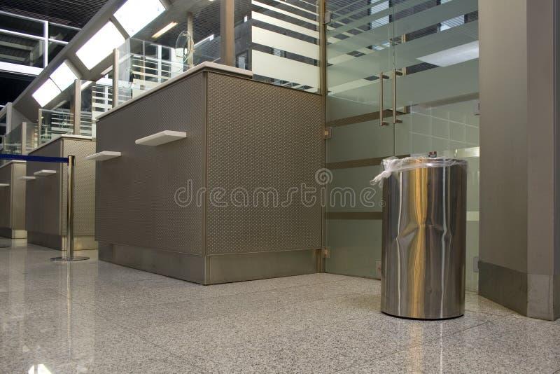 机场服务台 库存图片