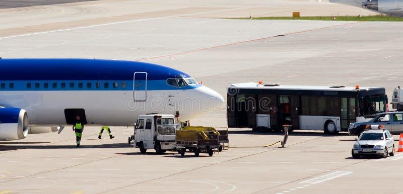 机场服务航天飞机tegel vip 库存照片
