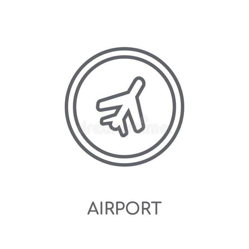 机场标志线性象 现代概述机场标志商标conce 皇族释放例证