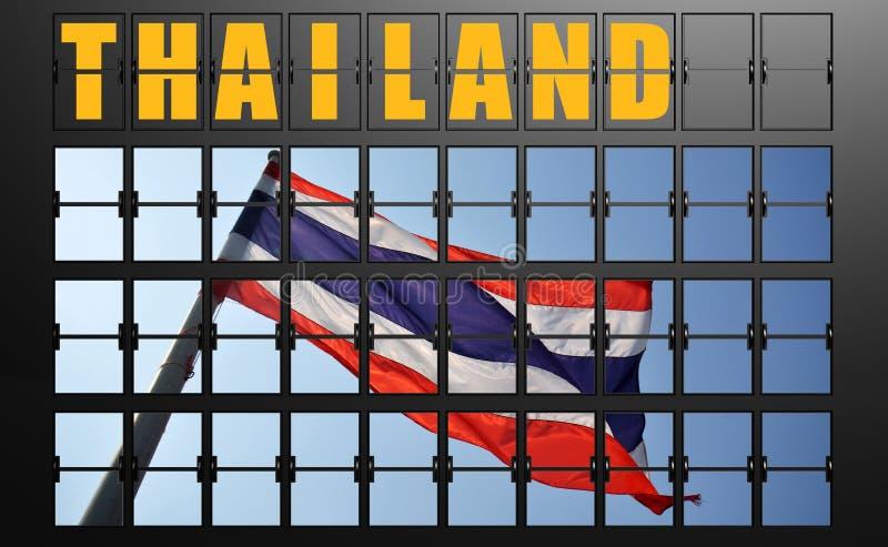 机场泰国的显示板 库存例证