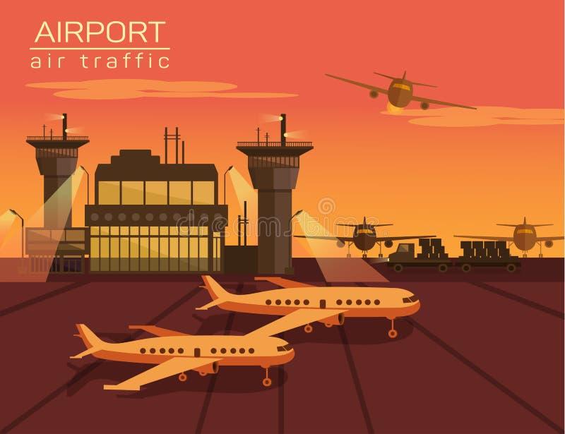 机场的传染媒介例证 向量例证