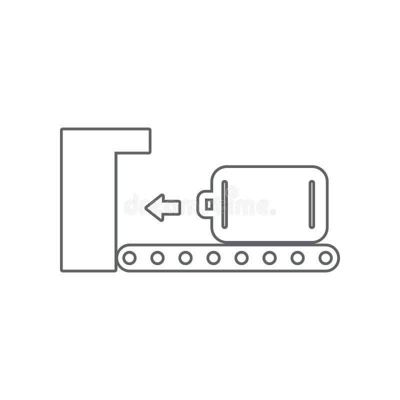 筛选象的行李 机场的元素流动概念和网应用程序象的 r 皇族释放例证