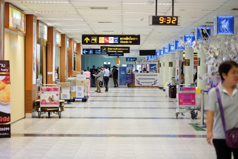 机场的终端在合艾市 库存图片