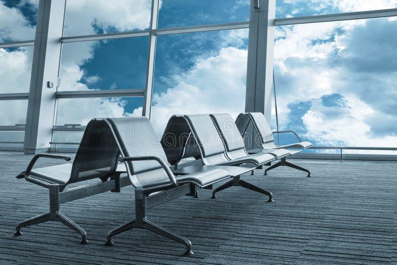 机场空的休息室 免版税库存照片