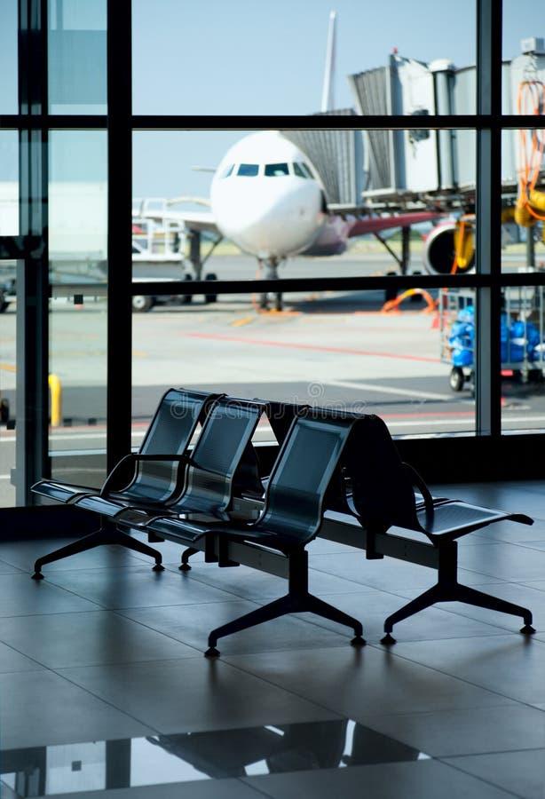 机场空的终端 免版税库存图片