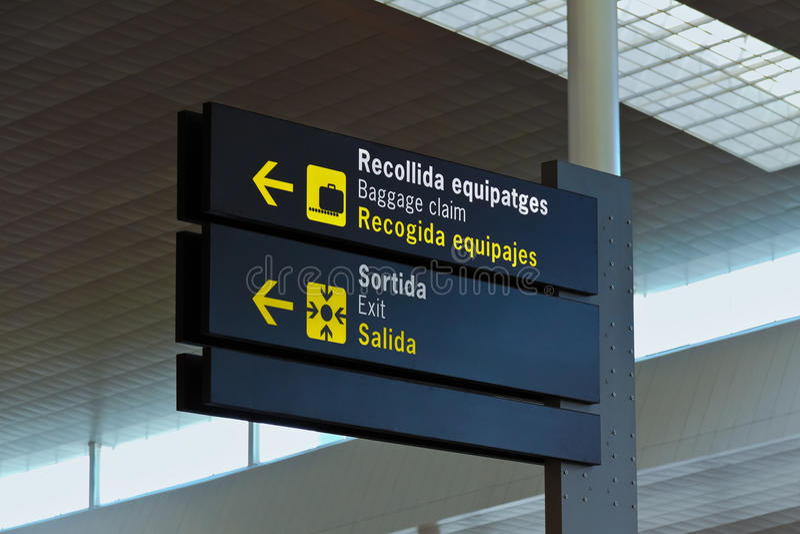 机场符号 库存图片