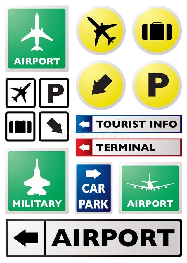 机场符号 皇族释放例证