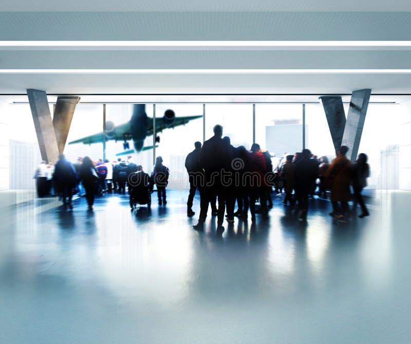 机场等待 免版税库存图片