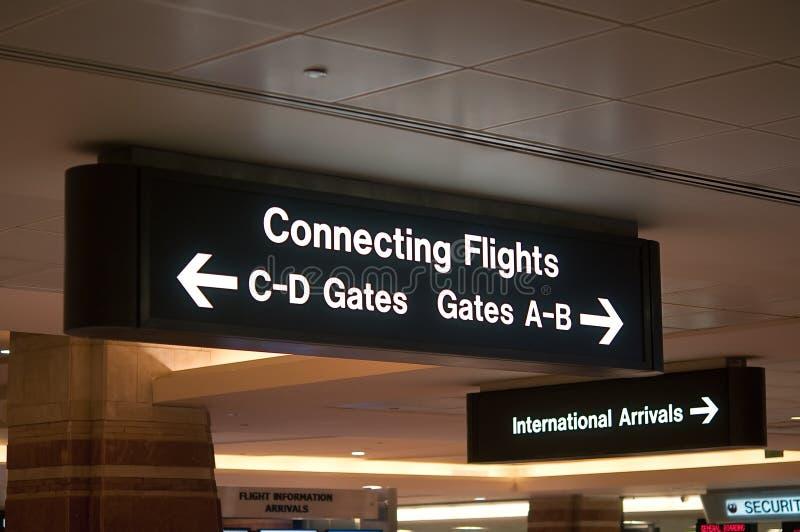 机场签署符号 免版税图库摄影