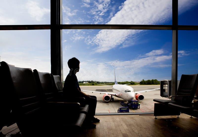 机场终端 免版税库存图片