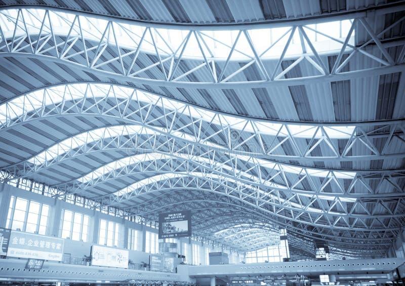 机场结构大厅 免版税库存图片