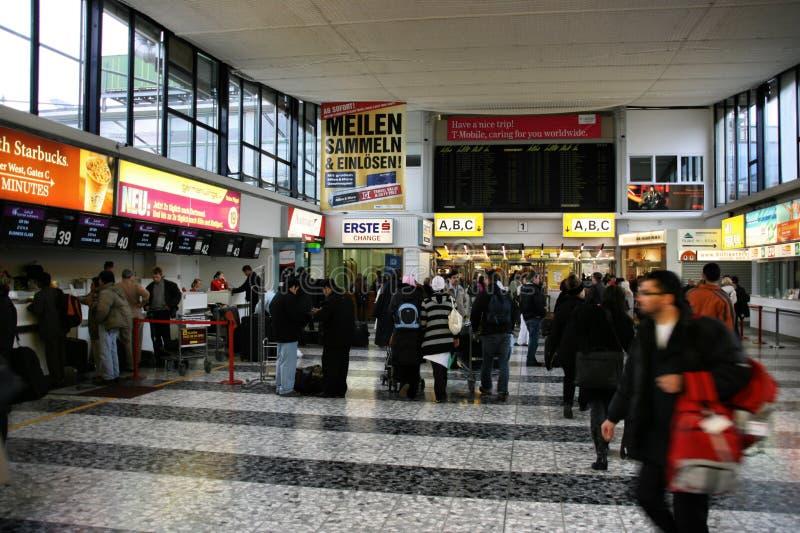 机场维也纳 免版税库存图片