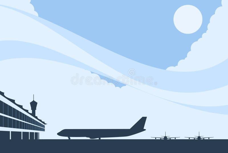 机场背景 向量例证