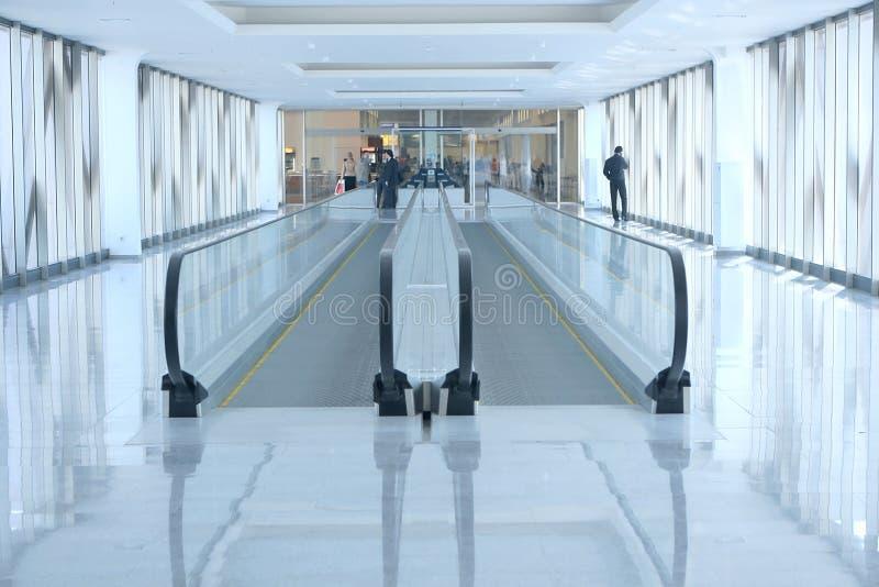 机场自动扶梯 免版税库存图片