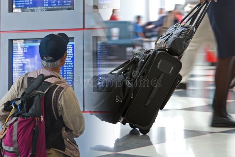 机场蒙太奇旅行 免版税库存图片