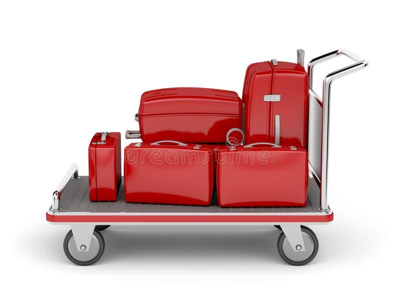 机场行李推车 库存例证