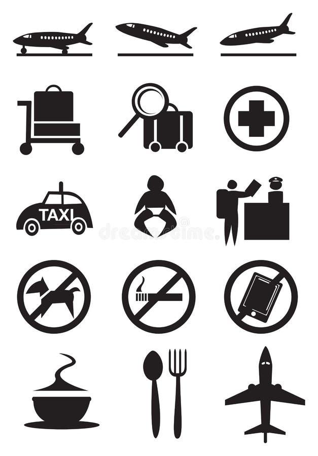 机场象和标志 库存例证