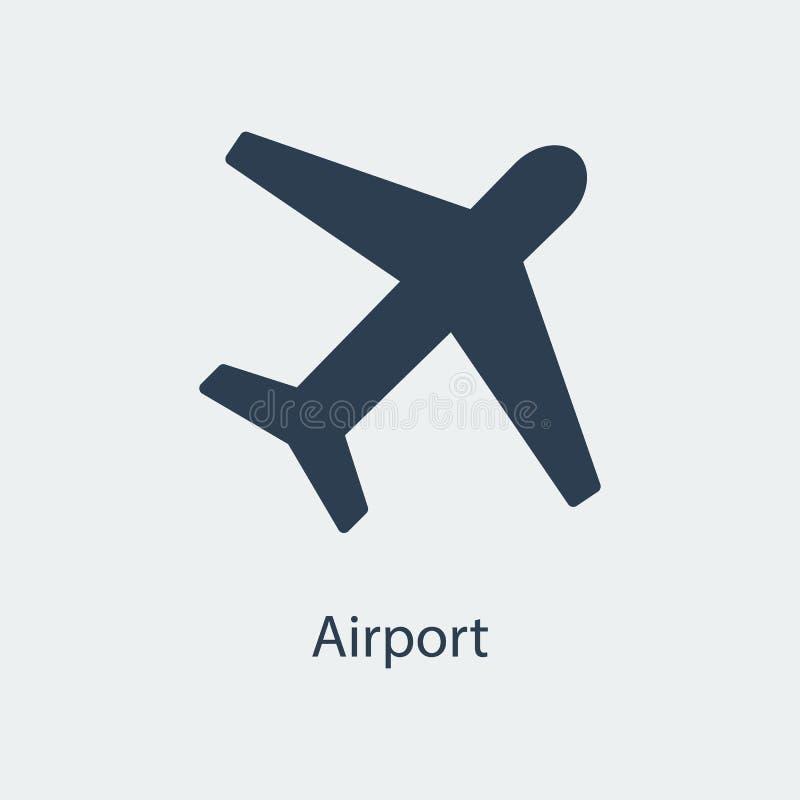 机场象 飞机标志 向量 向量例证