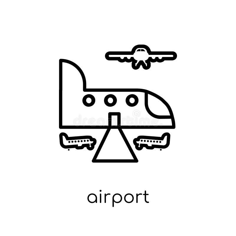 机场象  向量例证